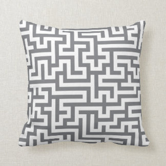 Pillow in Grey Maze Pattern