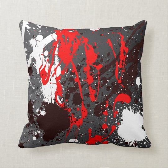 Pillow in modern abstract sprayed style