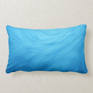 Pillow light blue fur