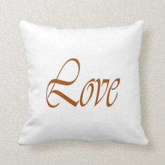 Pillow of Love Gold on White