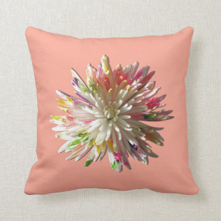 Pillow - Painted White Spider Mum
