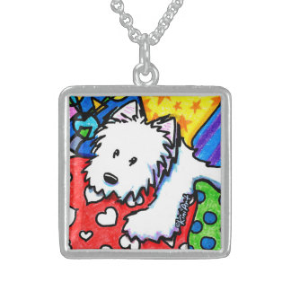 Pillow Pile Westie Necklace