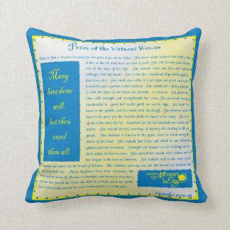Pillow-Praise of the Virtuous Woman Throw Cushion