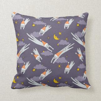 Pillow: Sleeping kitties flying in the night skies Cushion