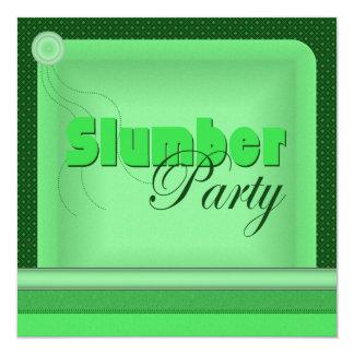 Pillow Slumber Party Invitation (Green)