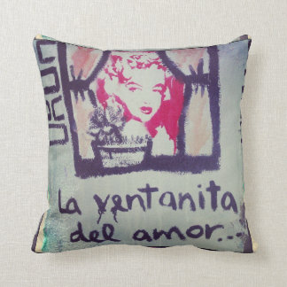 Pillow street art the ventanita of the love