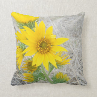 Pillow Sunflower Photography Nature Bright Yellow Cushions