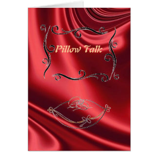 Pillow Talk Greeting Card Red