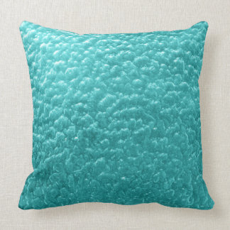 Pillow teal bumpy texture