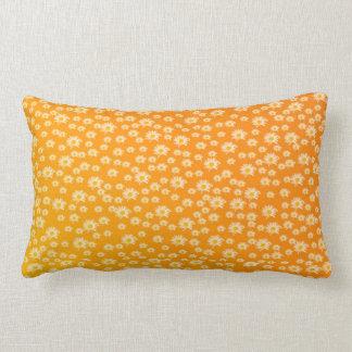 pillow, white blossom in orange lumbar cushion
