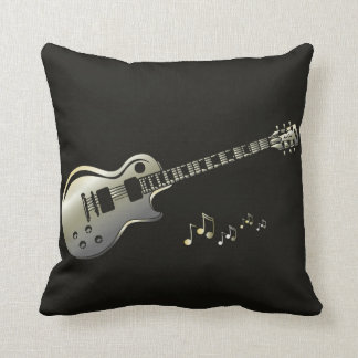 Pillow with applied guitar