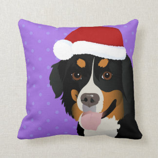 Pillow with Bernese Mountain dog