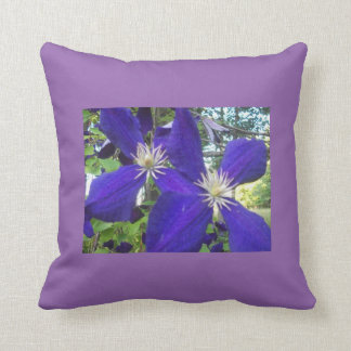 Pillow with blue flowers cushions