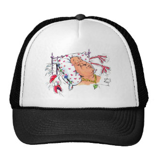 Pillow With Chicken Feathers? Cap