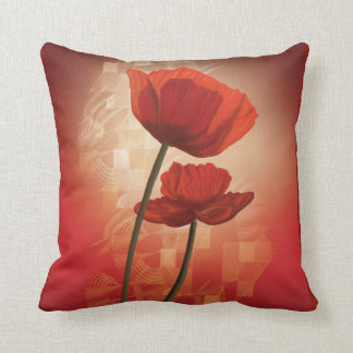 Pillow with China Poppy