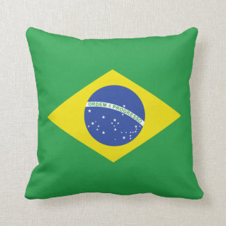Pillow with flag of Brazil