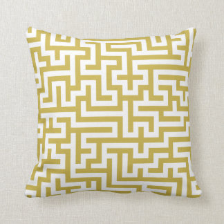 Pillow with Freesia Yellow Pattern