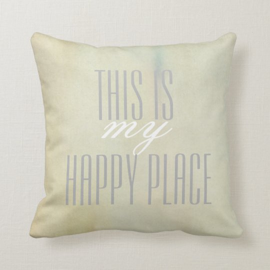 pillow with quote grey on pastel watercolor