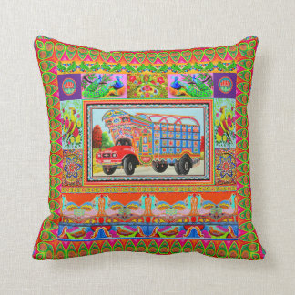 Pillowcase Inspired by Truck Art - 3 Throw Pillow