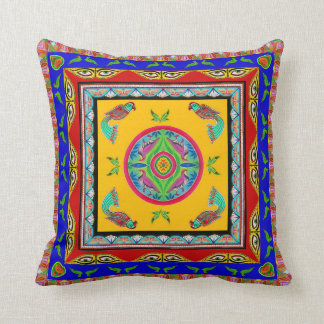 Pillowcase Inspired by Truck Art - 6 Throw Pillow