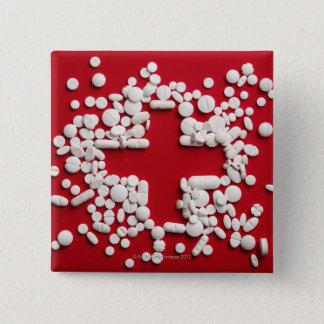 Pills Cross 15 Cm Square Badge