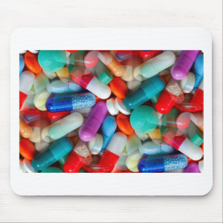 pills drugs mouse mat