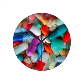pills drugs round clock