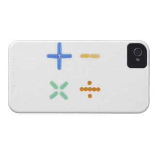 Pills in shape of plus sign, minus, iPhone 4 Case-Mate case