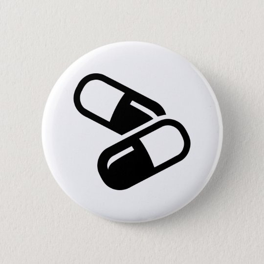 Pills medicine 6 cm round badge
