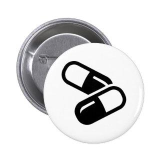 Pills medicine 6 cm round badge
