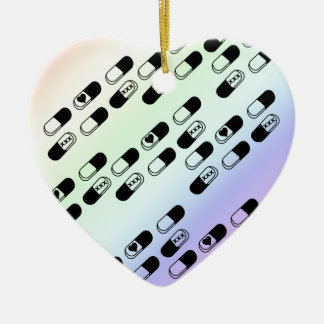 Pills on Pastel Rainbow Background Christmas Ornament