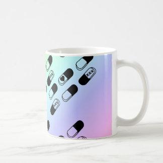 Pills on Pastel Rainbow Background Mug