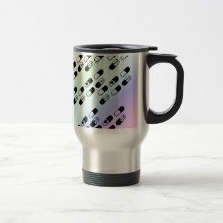 Pills on Pastel Rainbow Background Stainless Steel Travel Mug
