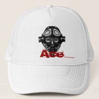 Pilot ace in helmet cool graphic art hat design