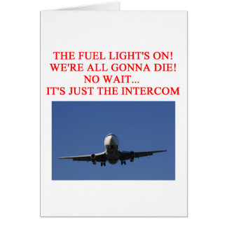 PILOT airline joke Card