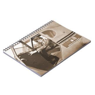 Pilot Amelia Earhart 1936 Notebook