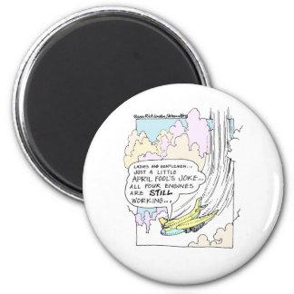 Pilot April Fools Cartoon Funny Gifts & Tees 6 Cm Round Magnet