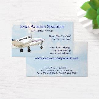 Pilot Aviation Twin Engine Plane Business Card