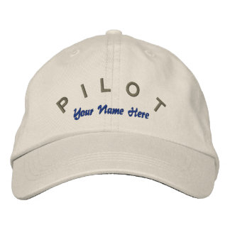 Pilot Aviator Custom Hat Embroidered Baseball Cap