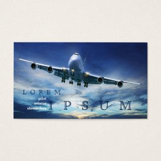 Pilot Aviator Stewardess Plane Sky Business Card