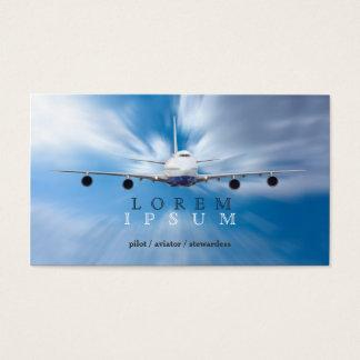 Pilot Aviator Stewardess Plane Sky Transport Business Card