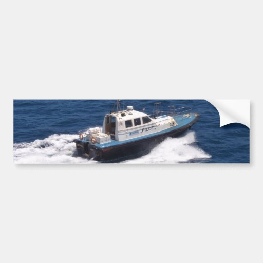 Pilot Boat At Speed Bumper Stickers