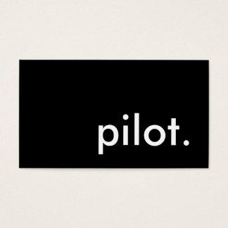 pilot. business card