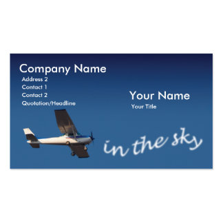 Pilot Pack Of Standard Business Cards