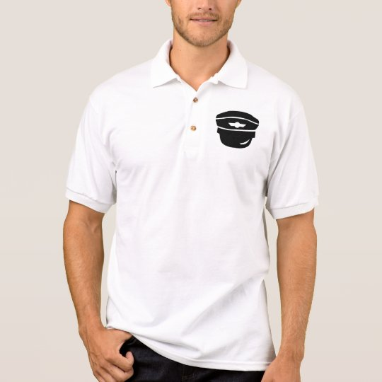 Pilot captain hat polo shirt