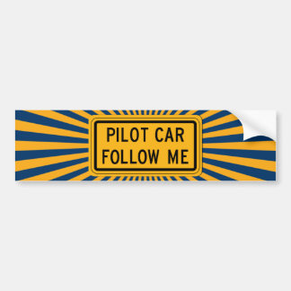 Pilot Car Follow Me Bumper Sticker