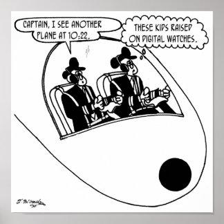 Pilot Cartoon 3683 Poster