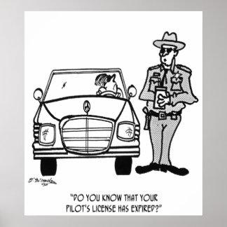 Pilot Cartoon 5214 Poster