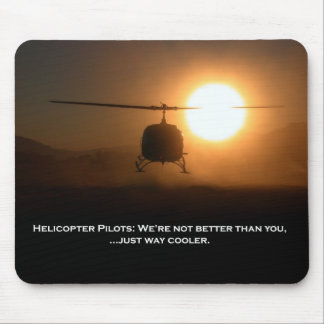 Pilot Cooler Helicopter Mouse Pad