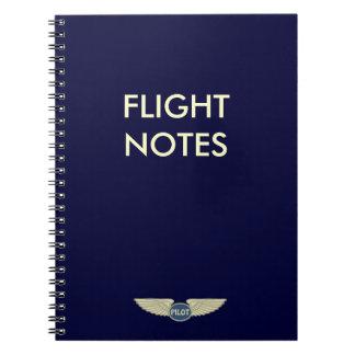 Pilot Flight Notes Notebook